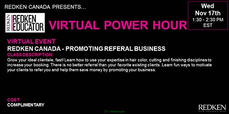 REDKEN CANADA - PROMOTING REFERRAL BUSINESS tickets