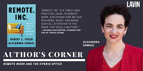 Author's Corner X Alexandra Samuel: Remote Work and the Hybrid Office tickets