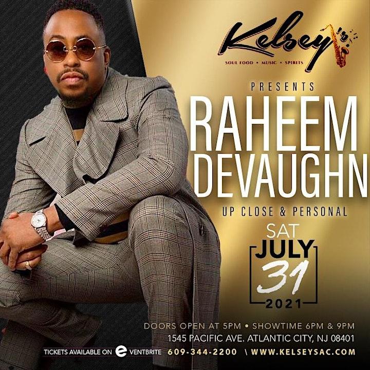 Raheem DeVaughn  Live  @ Kelsey's   Two Shows  6 pm &  9 pm image