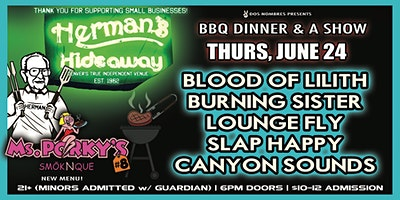 BLOOD OF LILITH | BURNING SISTER | LOUNGE FLY | SLAP HAPPY | CANYON SOUNDS