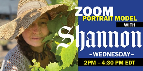 Portrait Model ZOOM with ART MODEL Shannon tickets