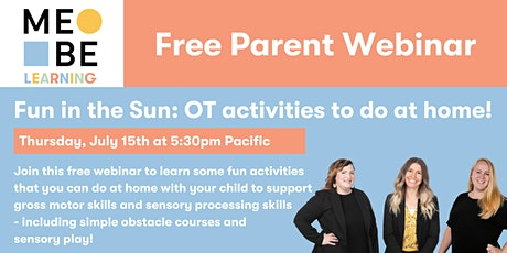 MeBe Learning Webinar: Fun OT activities to do at home! billets