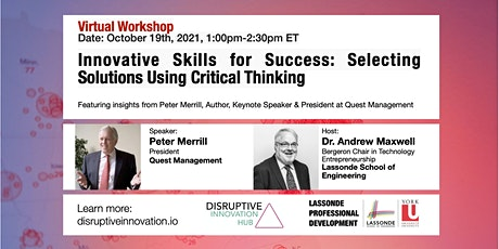 Innovative Skills for Success: Selecting Solutions Using Critical Thinking tickets