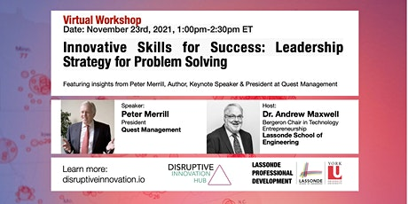 Innovative Skills for Success: Leadership Strategy for Problem Solving tickets