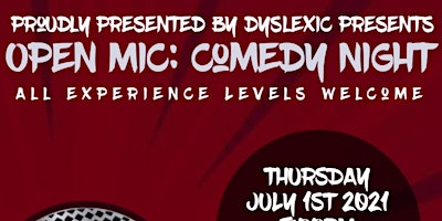 OPEN MIC COMEDY NIGHT | OPEN SIGN UP | ALL EXP. LEVELS