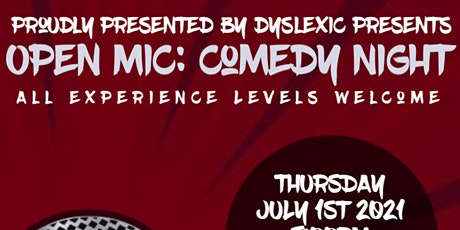OPEN MIC COMEDY NIGHT   OPEN SIGN UP   ALL EXP. LEVELS tickets