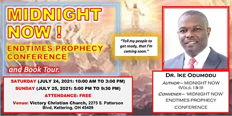 'MIDNIGHT NOW' ENDTIMES PROPHECY CONFERENCE AND BOOK TOUR tickets