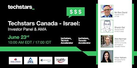 Techstars Tel Aviv - Toronto: Investor Panel & AMA tickets