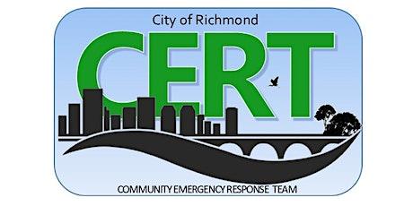 City of Richmond CERT Training tickets