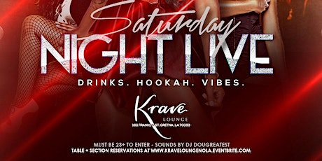 Saturday Night Live at Krave Lounge tickets