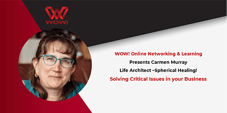 Solving Critical Issues in your Business - WOW! Networking & Learning tickets