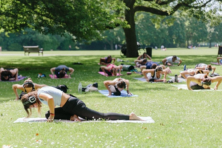 Silent Yoga in Battersea Park image