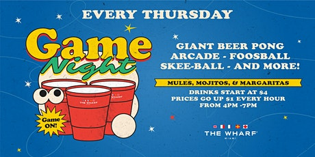 GAME NIGHT at The Wharf Miami tickets