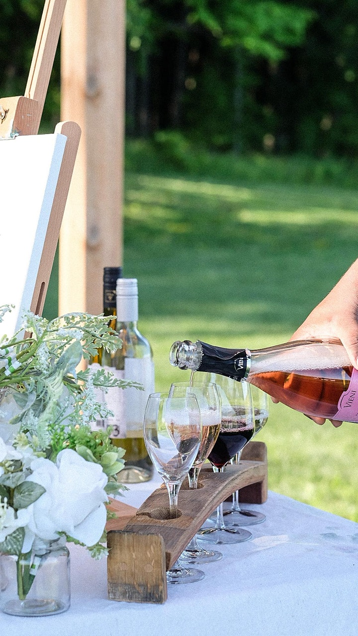 Sip & Paint in the Vineyard of Vieni Estates Winery image