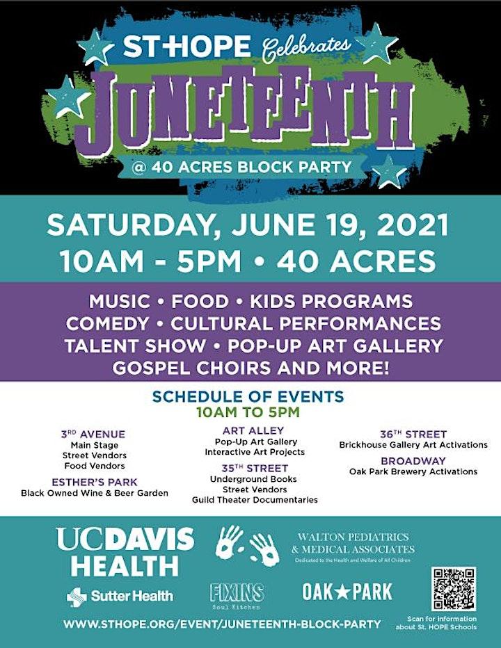 Juneteenth @ 40 Acres Block Party image