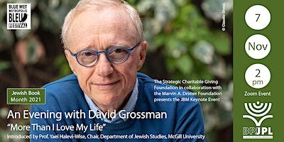 "JBM Keynote: An Evening with David Grossman – ""More Than I Love My Life"""
