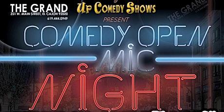 MONDAY Comedy Open Mic Night at The Grand El Cajon  - 6/21/21 - 8:30 pm tickets