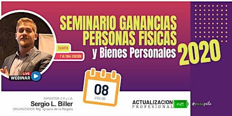 4ta Edición - SEMINARIO 3 HS Ganancias P Físicas  y Bienes Personales 2020 entradas