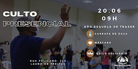 CULTO PRESENCIAL MANHÃ - IBFLAURO ingressos