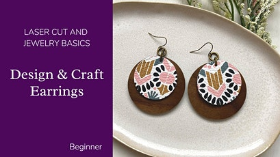Wood and Leather Earrings - Laser Cutting Basics tickets
