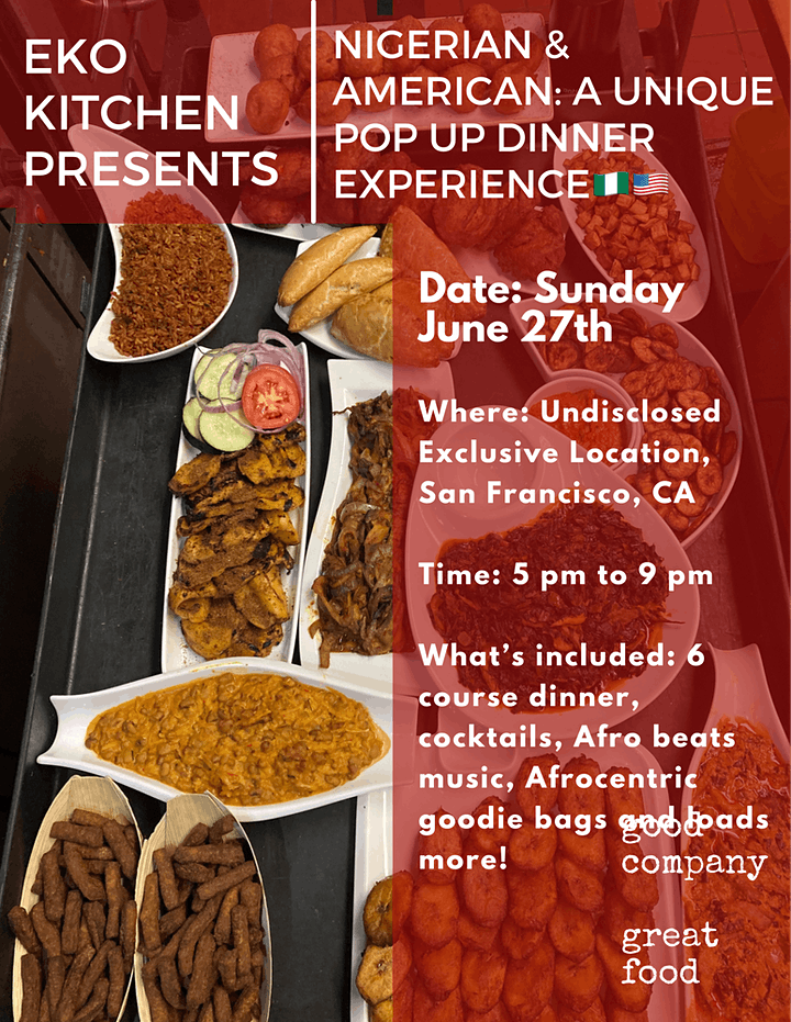 NIGERIAN & AMERICAN: A UNIQUE POP UP DINNER EXPERIENCE image
