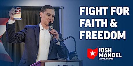 Faith & Freedom Rally with US Senate Candidate Josh Mandel tickets