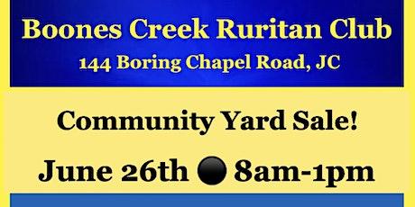 Boones Creek Ruritan Community Yard Sale tickets