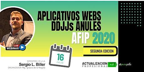 2da edición - Aplicativos webs DDJJs  anuales AFIP 2020 entradas