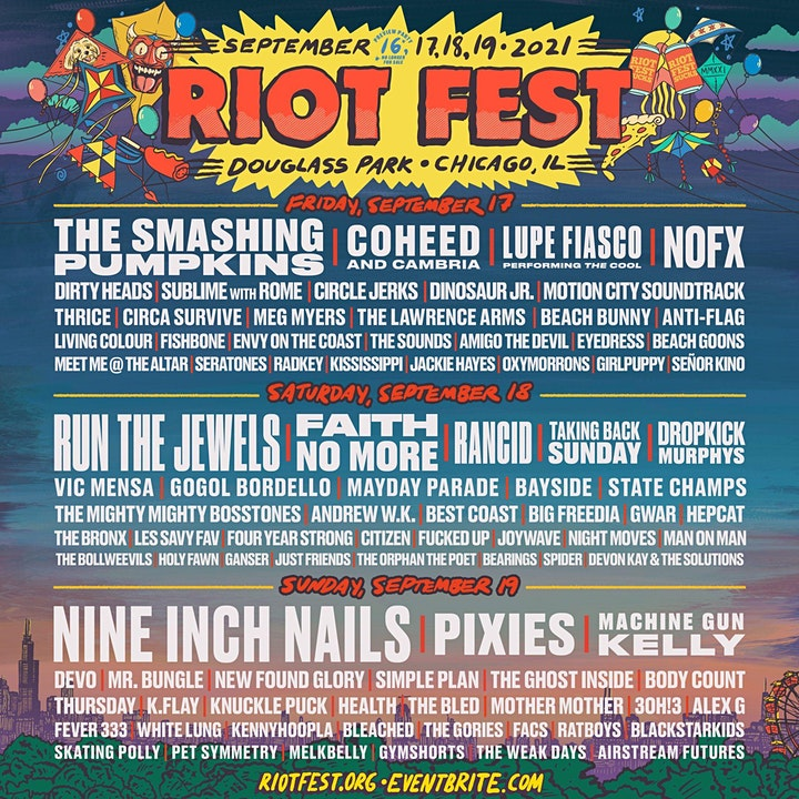 RIOT FEST 2021 I SUNDAY PASS (SOLD OUT) image