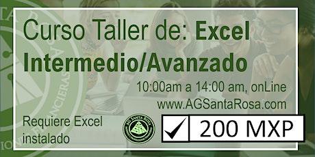 Curso Taller Excel Intermedio boletos