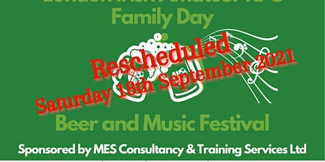 London Irish Beer Music & Family Day 2021 Proudly sponsored by MES tickets
