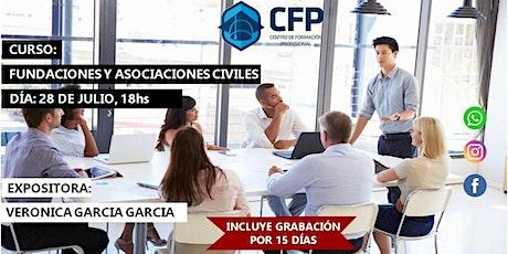 """""""Aspectos prácticos Asociaciones Civiles y Fundaciones"""" boletos"""
