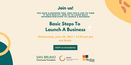 Basic Steps To  Launch A Business tickets