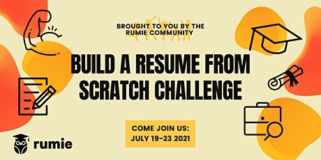 Build a Resume From Scratch tickets
