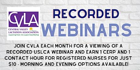 CVLA Aug 26 Webinar - Evening Session tickets