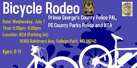 PG County Police, IKEA and PG Parks Bicycle Rodeo tickets