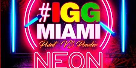 ICE GOLD GREEN  PAINT vs POWDER   neon edition  MIAMI CARIVAL 2021 entradas