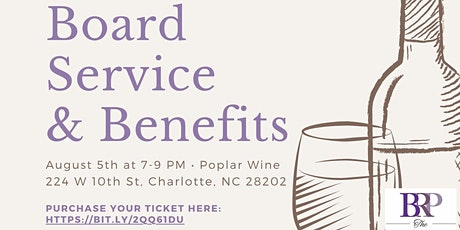 BRP: Board Service & Benefits tickets