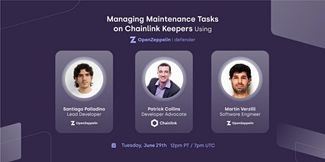 Managing Maintenance Tasks on Chainlink Keepers Using OpenZeppelin Defender tickets