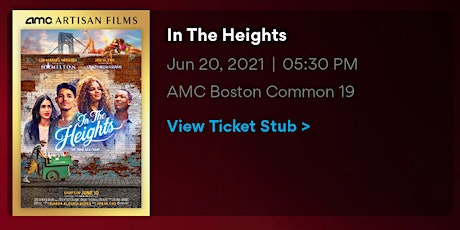 In The Heights Covid Screening tickets