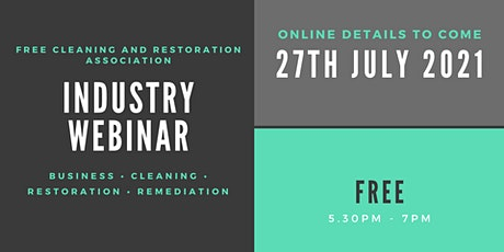Cleaning and Restoration Association tickets