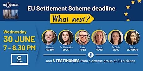 EU Settlement Scheme deadline - what next? tickets