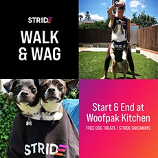 Walk and Wag with Woofpak kitchen and STRIDE tickets