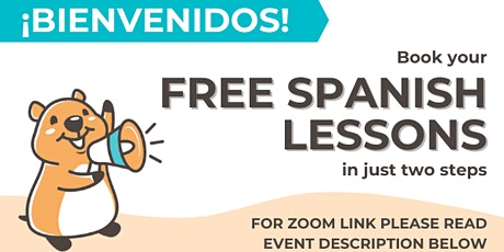 FREE online Spanish lessons starting every thirty minutes tickets