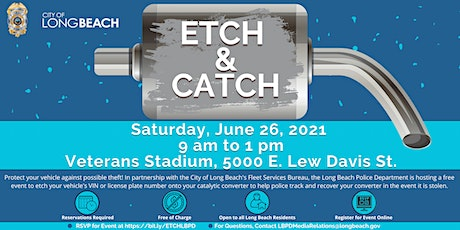 Etch and Catch - Catalytic Converter Theft Prevention Event with the LBPD tickets