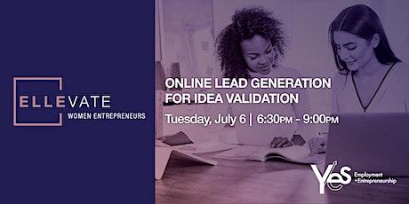Online Lead Generation for Idea Validation tickets