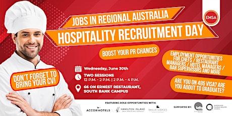 Jobs in regional Australia: Hospitality Recruitment day tickets