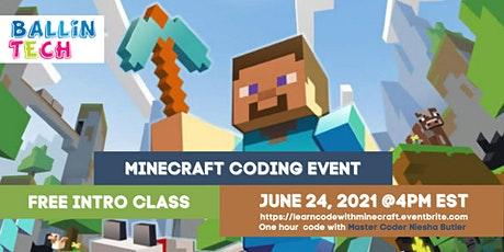 FREE MINECRAFT CODING EVENT: Intro class open to all students! tickets
