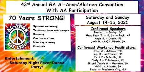 43rd Annual Georgia Al-Anon/Alateen Convention With AA Participation tickets