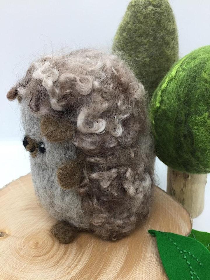 Needle Felted Hedgehog/echidna Workshop image